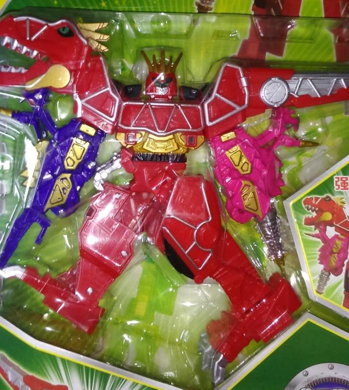 megazord power ranger dino charge blue pink kw