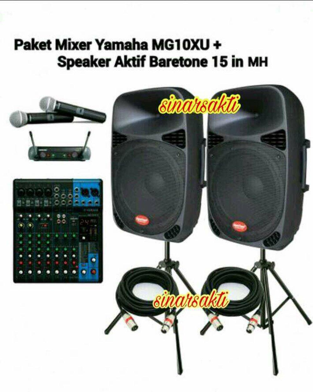 PROMO Paket Sound System Indoor and Outdoor Yamaha and Baretone 15 inch aktif ORIGINAL