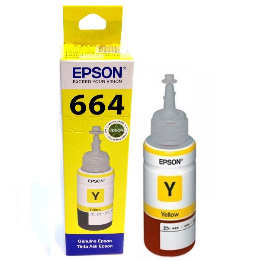 Tinta Printer Epson T664 Series Original YELLOW - Tinta Botol Untuk Printer Epson L120 L220 L360 L380