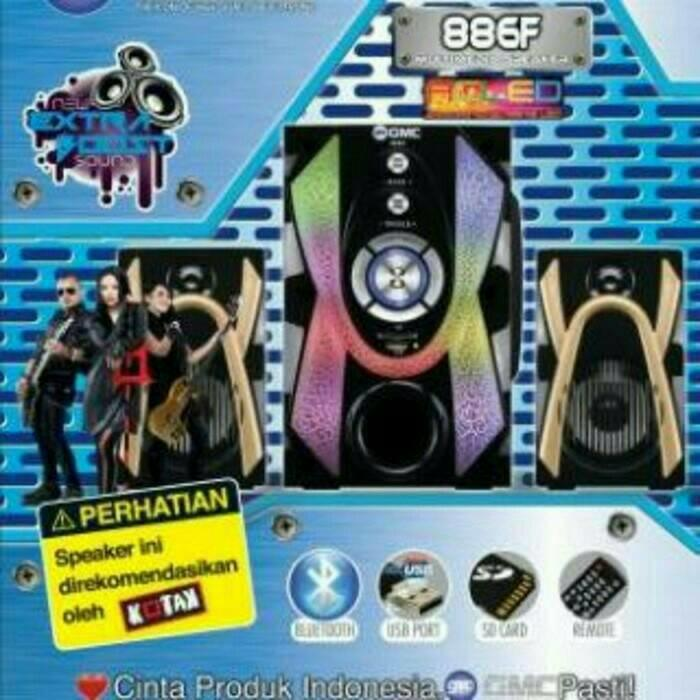 Promo Terpopuler GMC 886F Bluetooth Multimedia Speaker Aktif 2.1Ch - Active Subwoofer