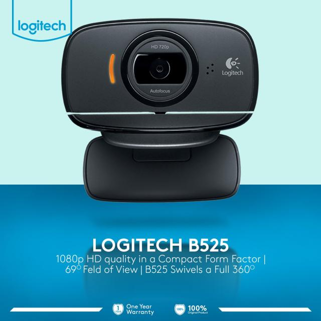 Logitech B525 HD Webcam - Hitam