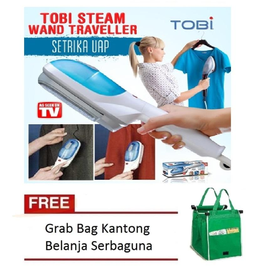 Tobi Setrika Uap Portable Tobi - Quick Travel Steamer Free Grab Bag 1 Pcs Random Colour