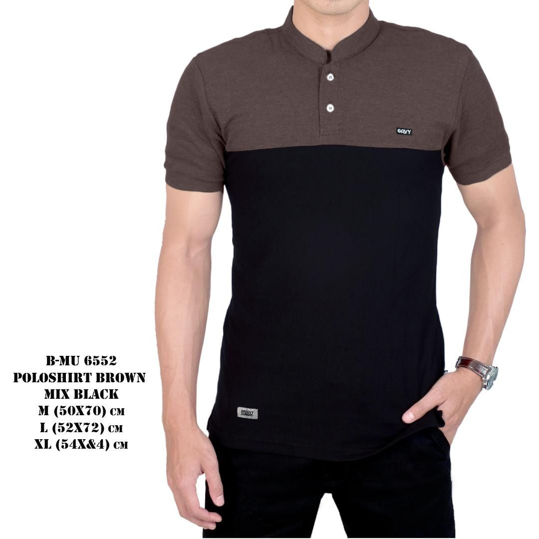 the most - Poloshirt sanghai Brown Mix Black Koas koko grandad baju pria murah kaos polo shirt cowok distro Lazada Birthday