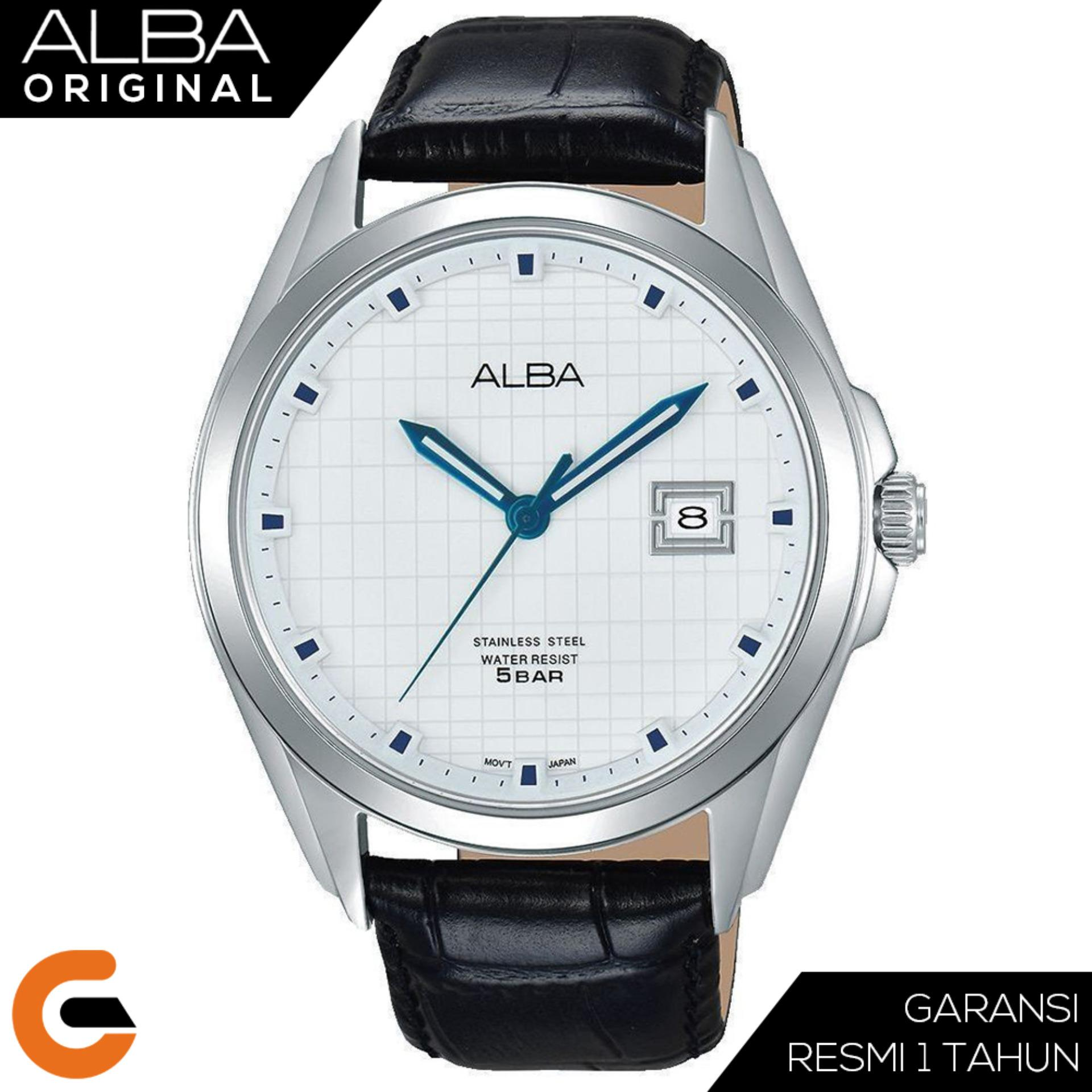 ALBA Pretige Jam Tangan Pria Tali Kulit / Stainless Steel Quartz Movement AS9C