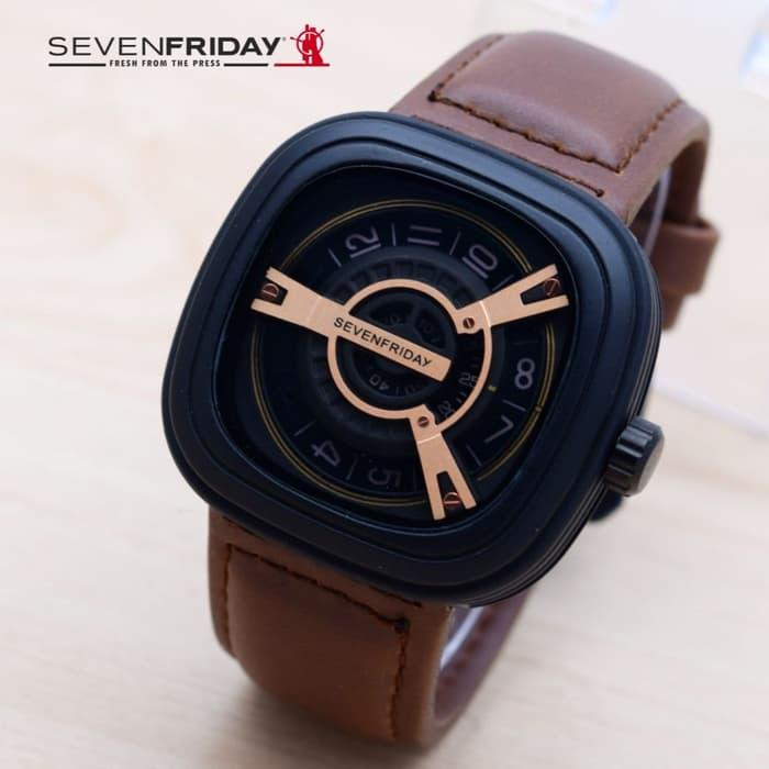 JAM TANGAN PRIA SEVENFRIDAY M2 KULIT BROWN