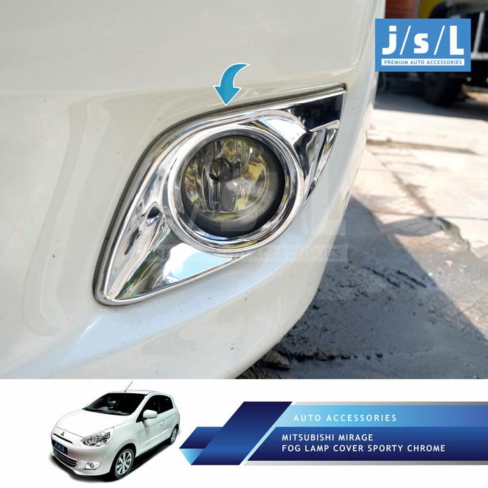 Mitsubishi Mirage Fog Lamp Cover Sporty Chrome/Aksesoris Mirage