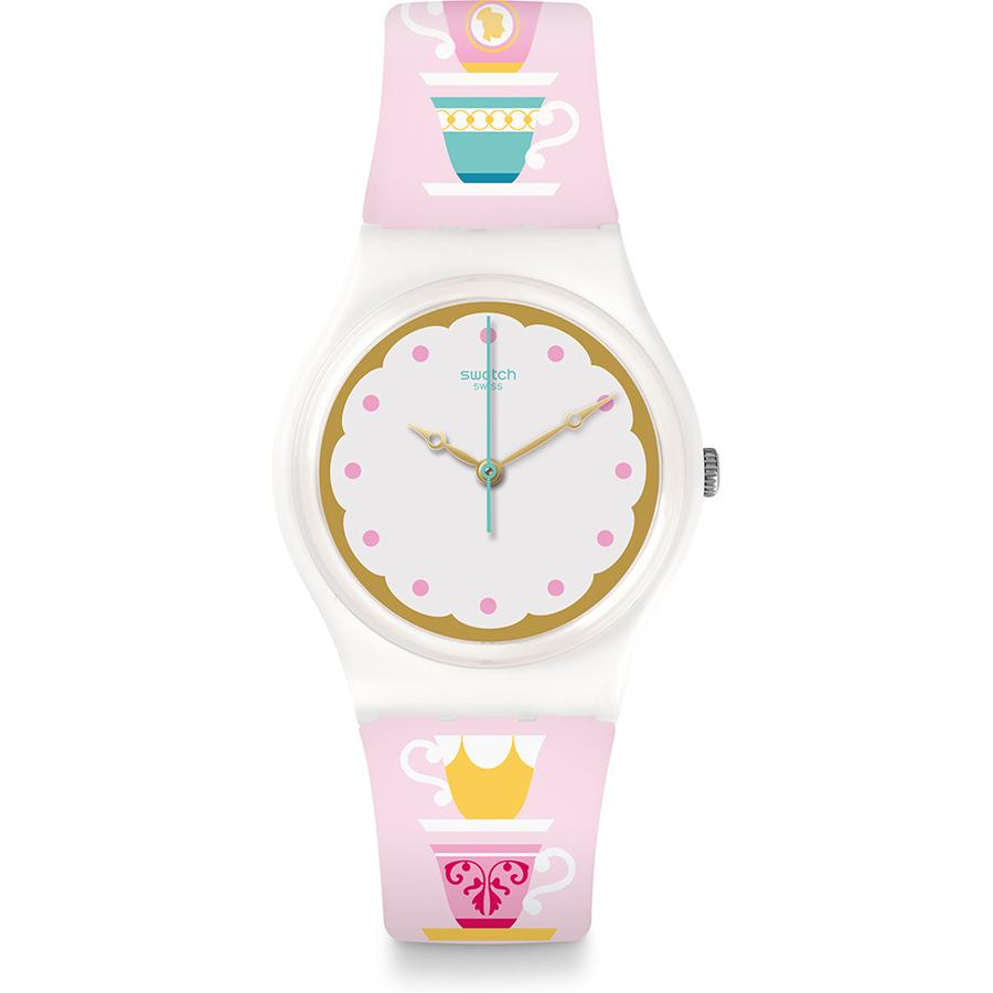 Swatch - Jam Tangan Wanita - Putih-Putih - Rubber Multi Colour - GW191 High Tea