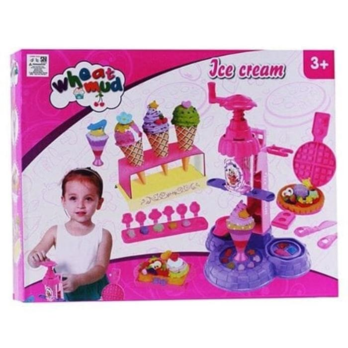OBRAL MURAH Dough Ice Cream Maker Wheat Mud Besar - Mainan Edukasi Lilin Ice Cream Import Murah
