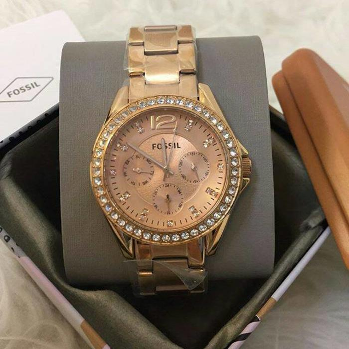 Jam Fossil Women Watch Rose Gold Original Authentic NWT