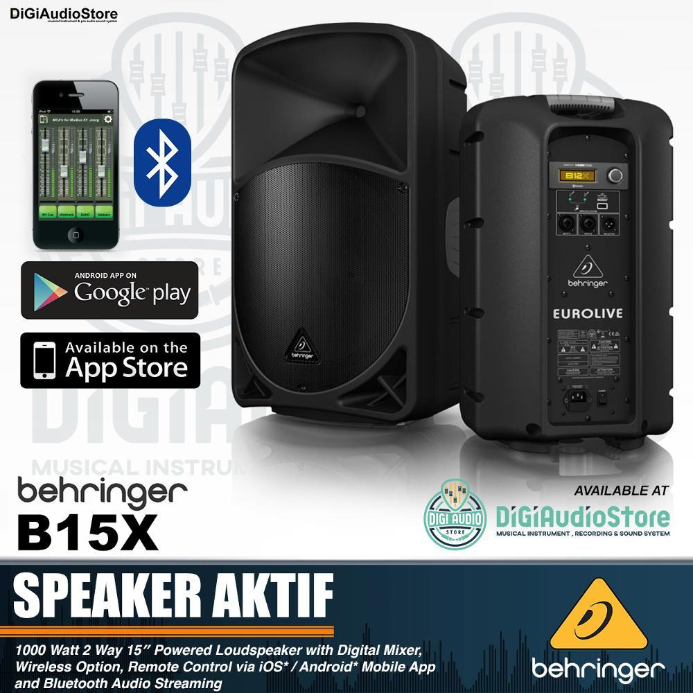 Behringer Eurolive B15X Speaker Aktif 15 inch 1000 Watt With Bluetooth - Wireless Option - Digital Mixer IOS & Android