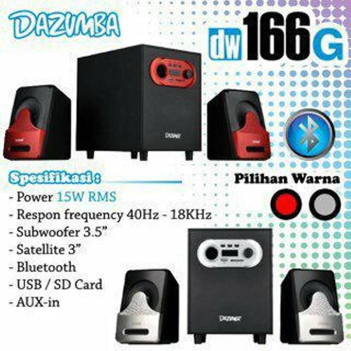 Speaker Dazumba Aktif Portable DW166G Bluetooth Subwoofer BASS