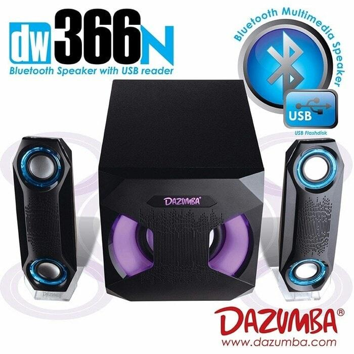 Speaker Dazumba Aktif Portable DW366N Bluetooth Subwoofer BASS