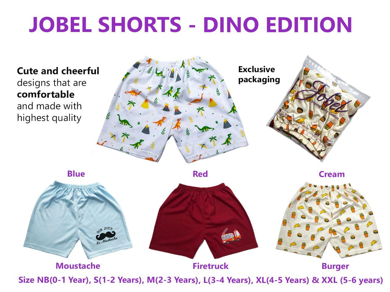 Jobel Short Pants ( Celana Pendek ) Dino Edition ( ISI 4 ) - by kazel