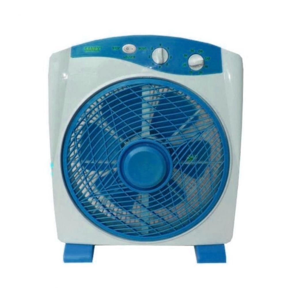 Sanex Box Fan 12 Inch - Biru