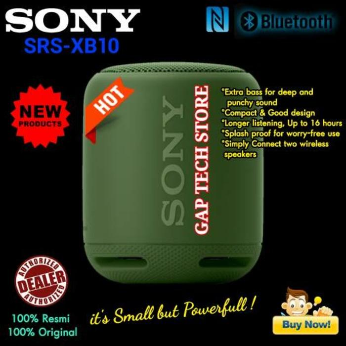 Promo Terpopuler Sony SRS XB10 / XB 10 EXTRA BASS Bluetooth Portable Speaker Original