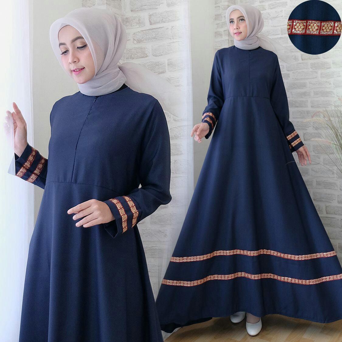 Snowshop Gamis Syari Muslim Marlina - 8 pilihan warna Dress Muslimah   Baju  Muslim   fashion 01f1cc1e46