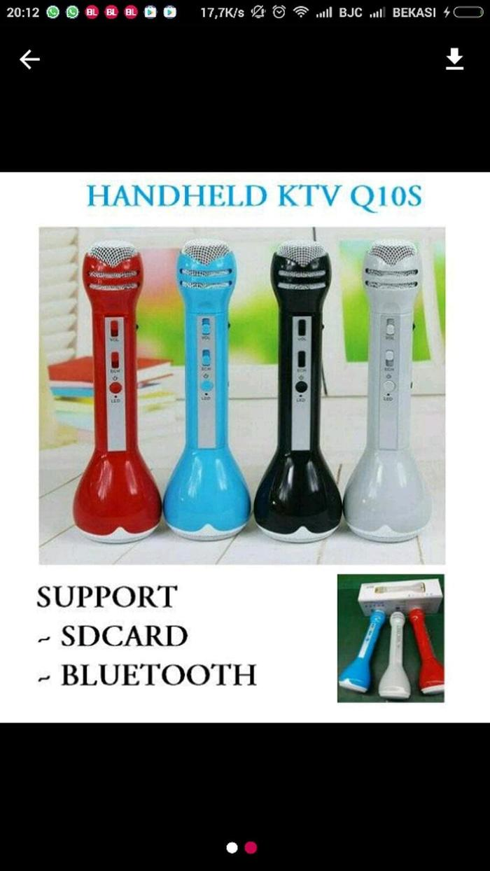 speaker mix bluetooth KTV Q10S / Mic bluetooth audio Harga Terbaik