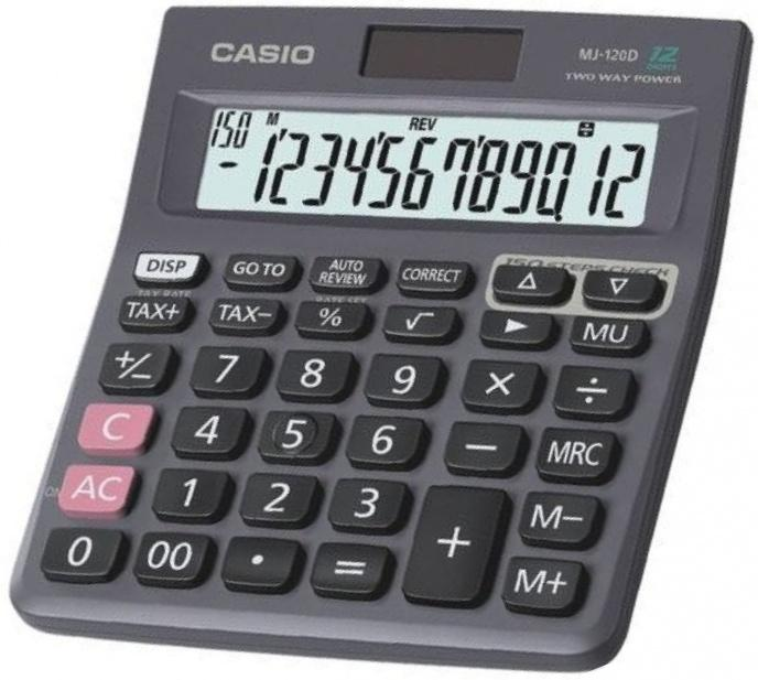 Casio Desktop MJ-120D - Kalkulator Meja Office check correct MJ 120D