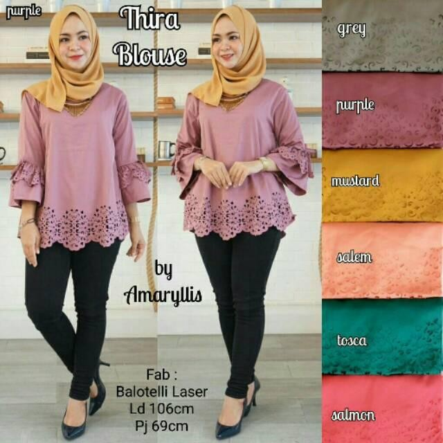 RX Fashion Thira Blouse Laser Bahan Twiscone Fit L 1R
