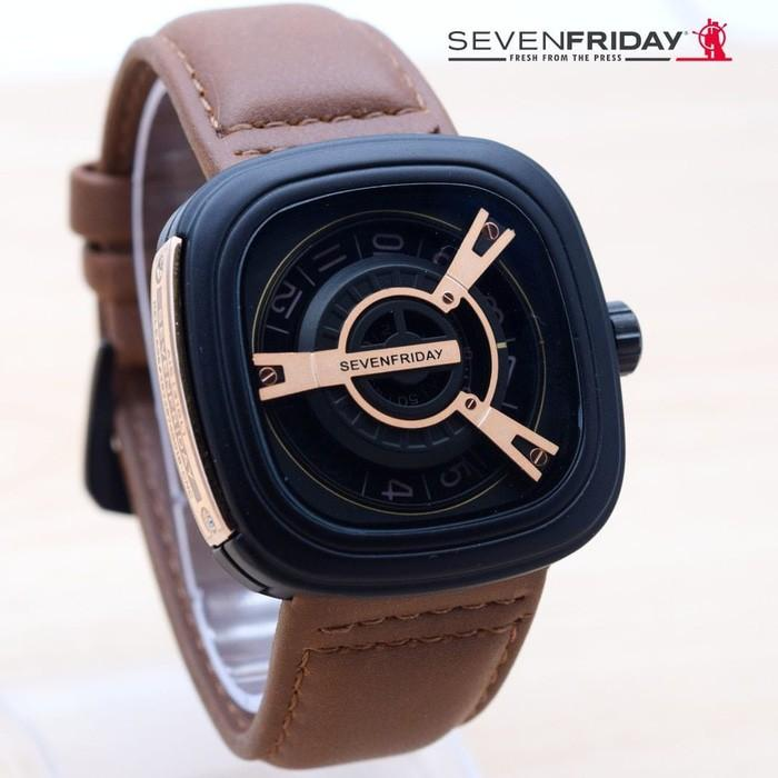 Jam Tangan Sevenfriday M Series Rose Gold Dark Brown / M1 M2 V1 V2 P1 P2 # SF002 # SF SEVEN FRIDAY
