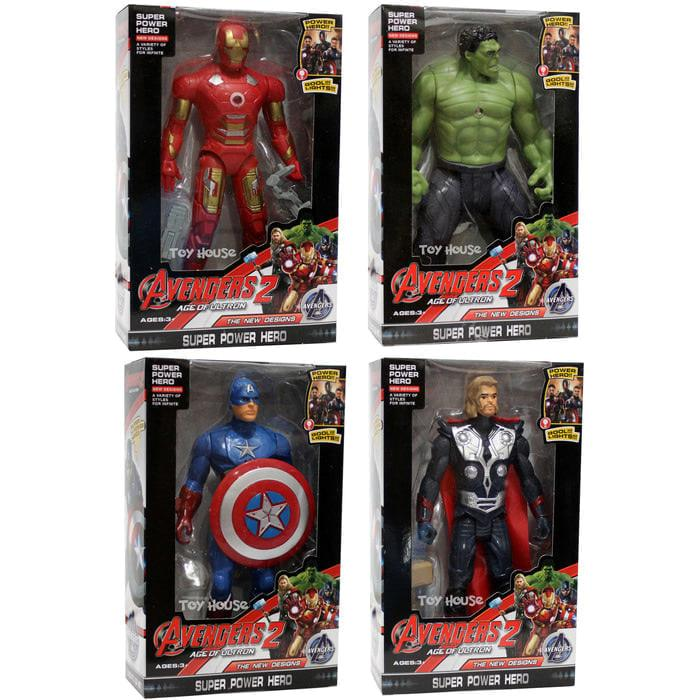 New Mainan Robot Avenger 2 Set Of 4 Captain America, Hulk, Iron Man,