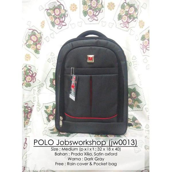 Tas Pria Ransel/Backpack/Laptop Polo Free Rain Cover & Pocket Bag Jw11 - Qsc1l7