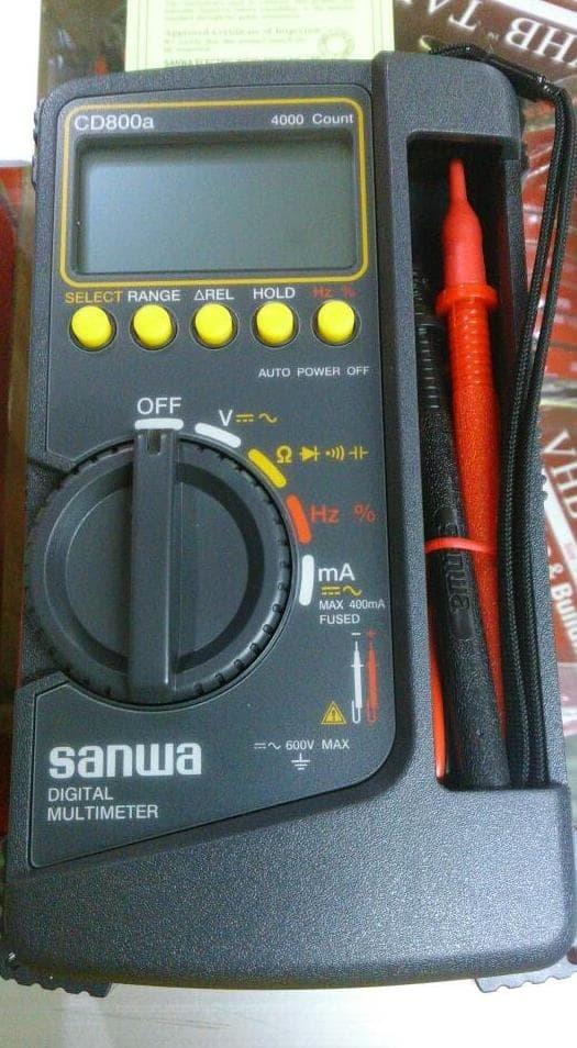 BEST SELLER - MULTITESTER DIGITAL SANWA CD800A