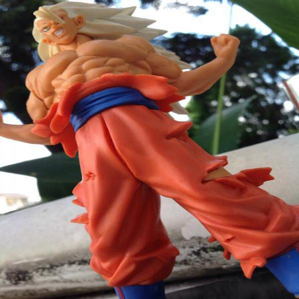 Action figure muscle super saiyan form son go kou miniatur mainan hobby loose toy ter murah best deal miniatur