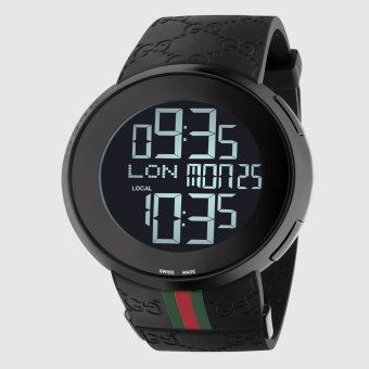 Gucci I-Gucci PVD and Rubber Watch 114207 - Jam Tangan