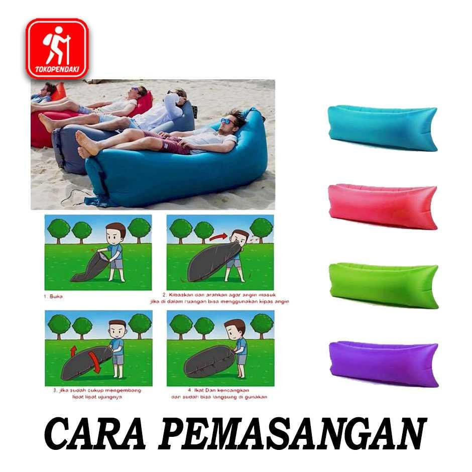 Kursi Angin Air Sofa Lazy Air Bed Kasur Malas Santai Camping Unik Murah Minimalis