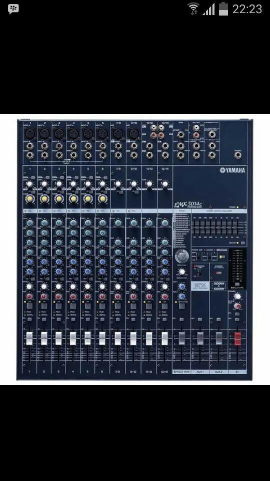 ORIGINALS  Power mixer Yamaha EMX 5014c ( 14 channel )