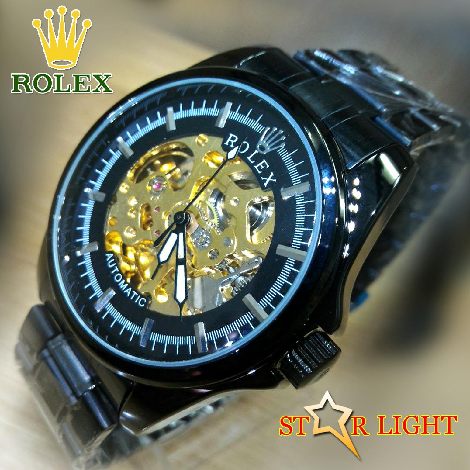 RooLeX_Automatic - Jam Tangan Pria - Rolex Classic Full Stainless Steel - Automatic Movement Water Resistant