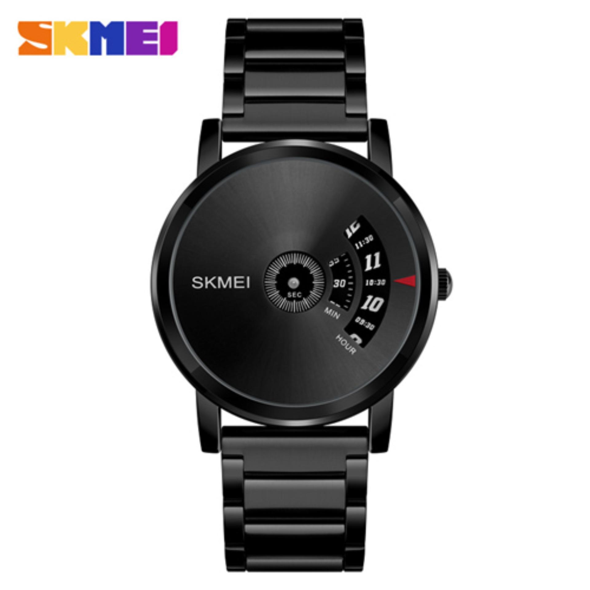 Jam Tangan Fashion Pria Skmei Analog Unik 1260 Stainless - Black