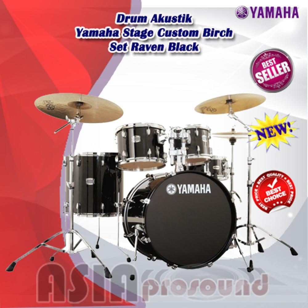 Drum Akustik Yamaha Stage Custom Birch Set Raven Black