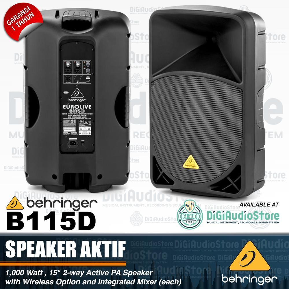 Speaker Aktif Behringer Eurolive B115D 15 inch 1000 Watt - Terdapat USB wireless option untuk microphone wireless behringer