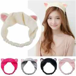 BANDO RAMBUT ALA KOREA - BANDANA WANITA - AKSESORIS RAMBUT BANDO IKAT RAMBUT/Bandana Bando terhits/ bando kucing / bandana make up / bandana mandi / Headband Import Ala Korea / Bendo Rambut Fashion Rajut/Bando Kucing Kitty Hair Band