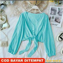 Baju Atasan Wanita Terbaru 2020 / Baju Blouse Wanita / Crop Mika