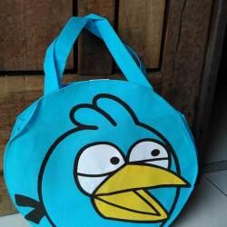 10 pcs READY STOCK Tas souvenir jinjing tenteng ultah anak ulang tahun karakter Angry Bird Biru