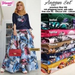 Baju Long Dress Anggun Set By Dinanti