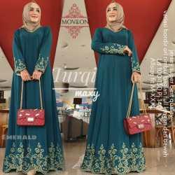 Baju Dress Jumbo Bordir XL XXL XXL Gamis Terbaru 2020 Modern Terlaris Ori Murah Bagus Busana Muslim Wanita Dress Ibu Ibu Bordir Mewah Gamis Arabian Arab Turqi Pakaian Wanita Bagus PROMO Bisa Bayar Di Tempat COD