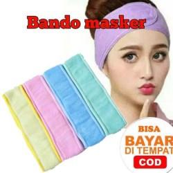 Bando Masker Hairband Facial Handuk Bando Souvenir Bandana Ala Korea