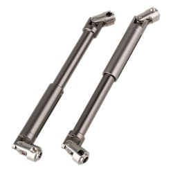 2pcs Titanium Color Universal Aluminium Scx0016 Drive Shaft For Axial Scx10 Electric 4wd For Rc1:10 Off-Road Model Car