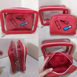 LANEIGE DOUBLE POUCH RED