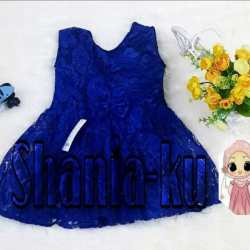 Baju Dress Queen Brokat / Dress Anak Cewek Brokat / Dress Anak 1 s/d 5 thn