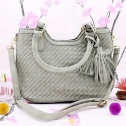 #9559 TAS JINJING WANITA MEIMEI MOTIF ANYAMAN hand bag cewe import kualitas premium