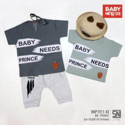 BABY NEEDS setelan bayi laki -laki baju anak cowok usia 5-24 bulan babyneed babyneeds bahan impor kaos casual lembut nyaman celana joger