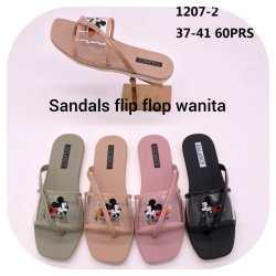BANLANCE-1207-2-SANDALS FLIP FLOP WANITA JELLY IMPORT TERBARU (FREE 1 pcs SISIR CANTIK)