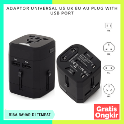 COLOKAN ADAPTOR UNIVERSAL US UK EU AU PLUG WITH USB PORT ( adapter colokan us uk eu au colokan all in one sambungan colokan universal travel adapter usb adaptor travel internasional adapter us uk eu euro konverter stop kontak usb uk eu charger laptop hp