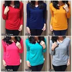 Baju Kaos Wanita Lengan Panjang Jumbo murah COD
