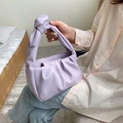 (hadiah gratis) Medlona tas bahu wanita tali pita kerut ala retro korea